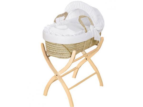 kids gallery couffin en osier complet et support naturel. Black Bedroom Furniture Sets. Home Design Ideas