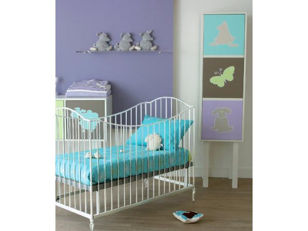 kids gallery lit bebe en fer forge blanc toscane 60x120. Black Bedroom Furniture Sets. Home Design Ideas