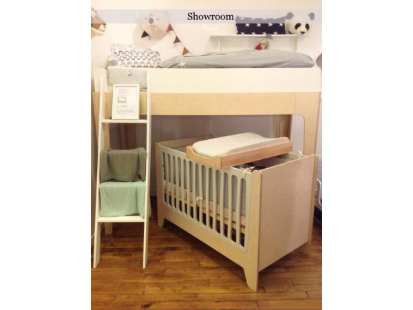 kids gallery lit bebe evolutif ecologique naturel et blanc. Black Bedroom Furniture Sets. Home Design Ideas