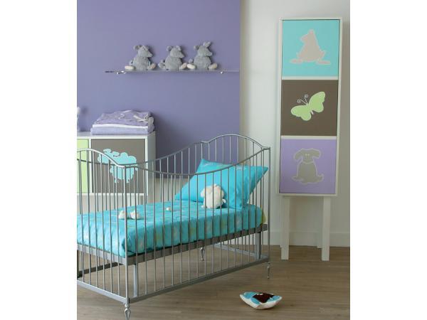 kids gallery lit bebe fer forge anthracite toscane 60x120. Black Bedroom Furniture Sets. Home Design Ideas