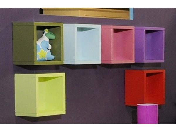 kids gallery niche etagere ou case murale ivoire. Black Bedroom Furniture Sets. Home Design Ideas