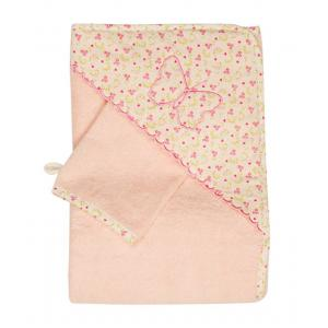 Laura Ashley - 39343-25042 - Cape de bain + Gant Bella papillon rose (358064)