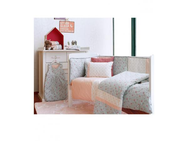 laura ashley gigoteuse patchwork florale rose poudre. Black Bedroom Furniture Sets. Home Design Ideas