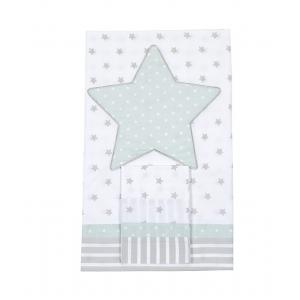 Laura Ashley - 39361-24957 - Housse de couette 100 x 140 + Taie 40 x 60 Rocking etoile bleu aqua (358162)