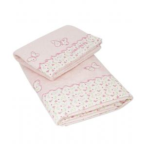 Laura Ashley - 39390-24981 - Lot de 2 Serviettes eponge Bella Papillon rose (358180)