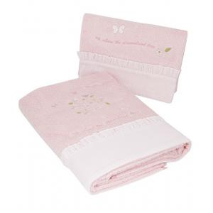Laura Ashley - 39393-24984 - Lot de 2 Serviettes eponge Esme rose clair (358182)