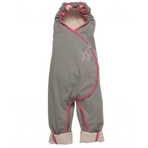 Lodger - 34282-21403 - Nid d'ange Wrapper gris et pois rose, couverture et tapis de jeux (358262)