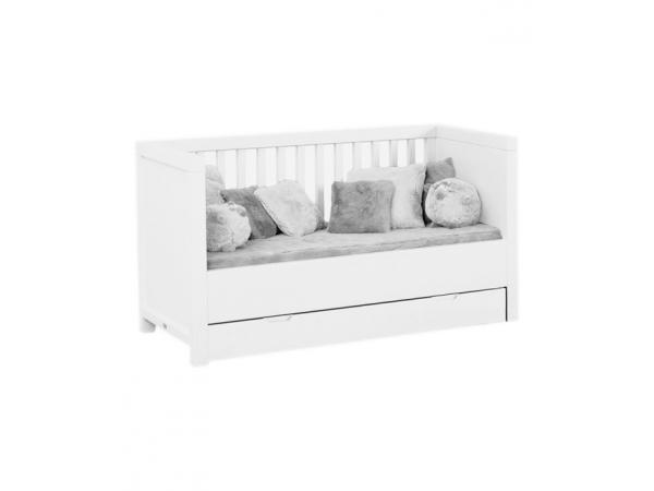 quax lit enfant convertible quarre 70 x 140 cm white. Black Bedroom Furniture Sets. Home Design Ideas