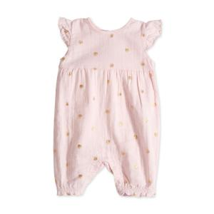 Aden and Anais - AA1027-WDPG-09G - Barboteuse-metallic primrose water dot flutter sleeve romper (359098)