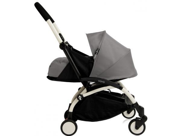 babyzen poussette yoyo babyzen complete gris chassis blanc. Black Bedroom Furniture Sets. Home Design Ideas