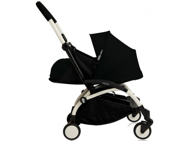 babyzen poussette yoyo babyzen complete noir chassis blanc. Black Bedroom Furniture Sets. Home Design Ideas