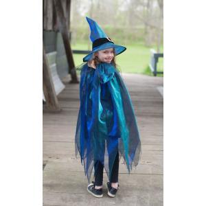 Great Pretenders - 50385 - Sorcières Cap avec Chapeau Size M (5/7 ans) 110-116 cm bleu et pourpre (362020)