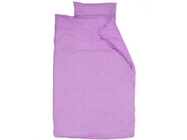 taftan housse de couette 140 x 200 cm vichy violet. Black Bedroom Furniture Sets. Home Design Ideas