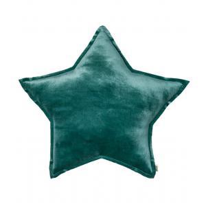 Numéro 74 - 38556-23556 - Coussin etoile Velvet bleu (363260)