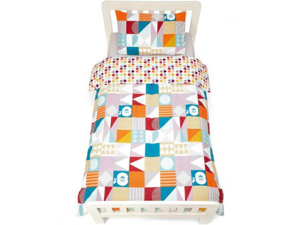 mamas and papas parure de lit imprime geometrique patternology. Black Bedroom Furniture Sets. Home Design Ideas
