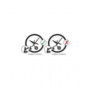 Bugaboo - 25061-8140 - Pince gauche pour arceau de capote Cameleon 2 (363524)