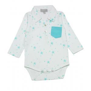 Le Marchand d'Etoiles - 34897-18969 - Body bebe Star blanc a poche (363636)
