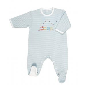 Laura Ashley - 39420-25009 - Pyjama bebe Train bleu (363654)