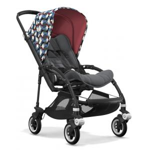Bugaboo - BU093 - Nouvelle poussette Bugaboo Bee 5 capote waves chassis Noir (363858)