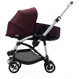 Bugaboo - BU084 - Nouvelle poussette Bugaboo Bee 5 avec nacelle rouge chiné capote rouge chiné chassis Alu (363874)