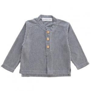 Bamboo and Love - C07-69 - Chemise col rond rayé grise 6-9M (364164)
