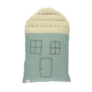 Camomile London - C20LTS - Coussin maison bleu ciel / crème - 29 x 47 cm (364188)