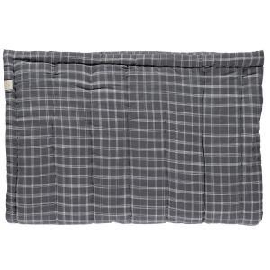 Camomile London - C12-1IKP - Couverture matelassée brodée main imprimée carreaux gris -75 x 120 cm (364330)
