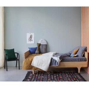Camomile London - FS2IKP - Drap housse imprimé carreaux gris - 90 x 200 cm (364334)