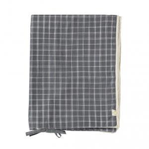 Camomile London - C02-0IKP - Housse de couette imprimée carreaux gris - 100 x 140 cm (364348)