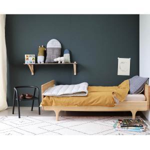 Camomile London - C12-2IKI - Couverture matelassée brodée main imprimée carreaux ivoire - 140 x 200 cm (364350)