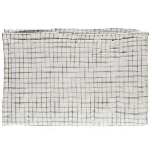 Camomile London - C12-1IKI - Couverture matelassée brodée main imprimée carreaux ivoire - 75 x 120 cm (364352)