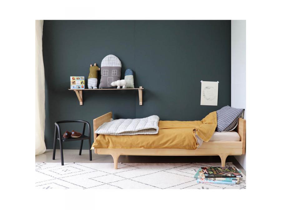 camomile london couverture matelass e brod e main imprim e carreaux ivoire 75 x 120 cm. Black Bedroom Furniture Sets. Home Design Ideas
