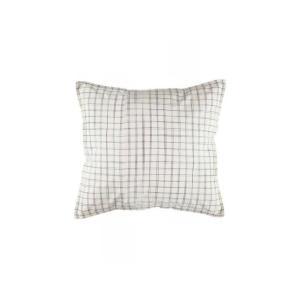Camomile London - C06-4IKI - Taie d'oreiller imprimée carreaux ivoire - 65 x 65 cm (364360)