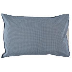 Camomile London - C06-2MCB - Taie d'oreiller imprimée petits carreaux bleus - 75 x 50 cm (364412)
