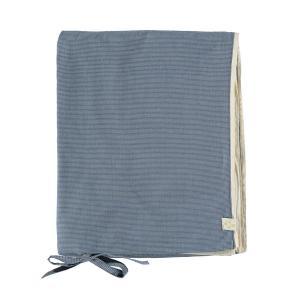 Camomile London - C02-0MCB - Housse de couette imprimée petits carreaux bleus - 100 x 140 cm (364418)