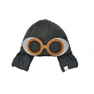 Lullaby Road - Space-G-1-2-ans - Bonnet gris foncé avec lunette ronde amovible - 1/2 ans (364430)