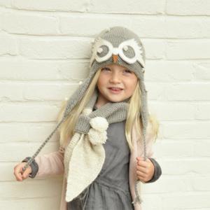 Lullaby Road - Girl-2-6-ans - Echarpe fille gris-ecru avec pompoms - 2/6 ans (364444)