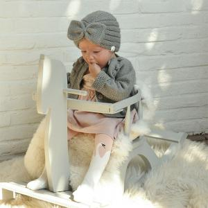 Lullaby Road - Turban-4-6-ans - Bonnet turban gris avec noeud - 4/6 ans (364446)