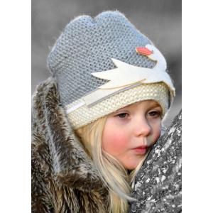 Lullaby Road - Beanie-2-4-ans - Bonnet gris avec Cygne amovible (364456)