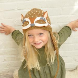 Lullaby Road - Reindee-1-2-ans - Bonnet caramel avec lunette amovible Renne - 1/2 ans (364460)
