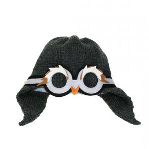 Lullaby Road - Penguin-2-4-ans - Bonnet fille gris foncé avec lunette amovible Pingouin - 2/4 ans (364474)