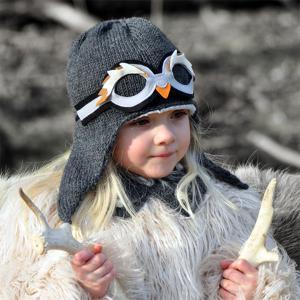 Lullaby Road - Penguin-4-6-ans - Bonnet fille gris foncé avec lunette amovible Pingouin - 4/6 ans (364476)