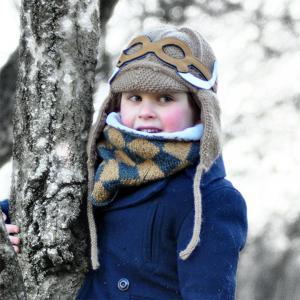Lullaby Road - Mam-4-6-ans-charbon - Bonnet gris foncé avec lunette amovible Mammouth - 4/6 ans (364482)