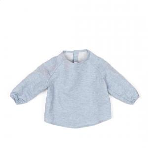 Message in the bottle - KYO_LDET1206 - Sweat Kyo en coton gris chiné - 12 mois (364634)