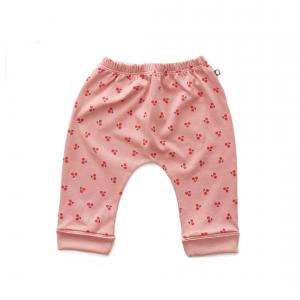 Oeuf Baby Clothes - L124375112 - Pantalon sarouel cerises en coton biologique rose 6/12M (364674)