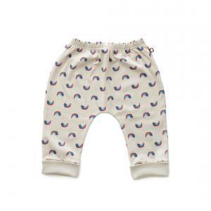 Oeuf Baby Clothes - L124322412 - Pantalon sarouel chats et arcs-en-ciel en coton biologique gris - 1600 (364682)
