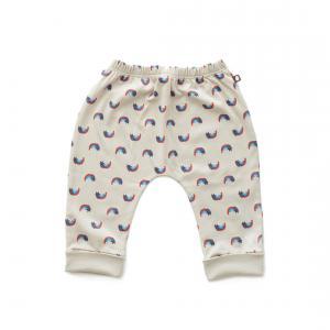 Oeuf Baby Clothes - L124322406 - Pantalon sarouel chats et arcs-en-ciel en coton biologique gris - 1600 (364684)