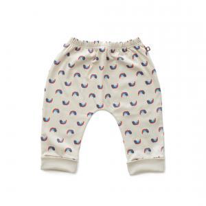 Oeuf Baby Clothes - L124322403 - Pantalon sarouel chats et arcs-en-ciel en coton biologique gris 0/3M (364688)