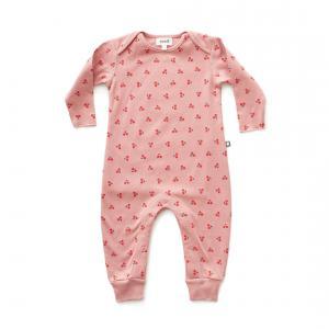 Oeuf Baby Clothes - L111375109 - Combinaison cerises en coton biologique rose 6/9M (364698)