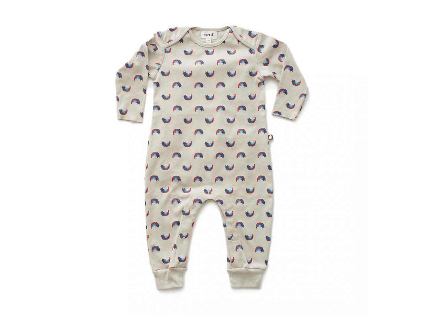 Oeuf Baby Clothes Combinaison Chats Et Arcs En Ciel En